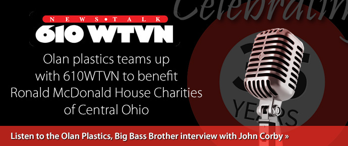 Listen to the Olan Plastics Big Bass Brother interview with 610 WTVN's John Corby